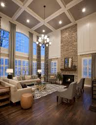 Hanging Curtains From Ceiling To Floor by High Ceiling Curtains Living Room Traditional With Gray And White