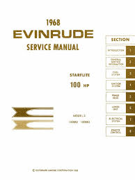 1968 evinrude starflite 100hp service manual pdf carburetor valve