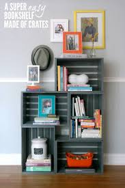 how to make a bookshelf crates wooden crates and apartments
