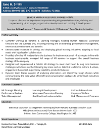 human resources cv format u2013 human resources resume sample and template