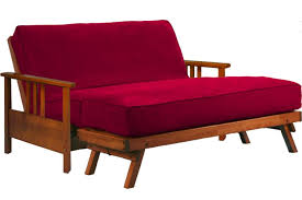 King Size Futon Frame Comfortable Wood Sofa Bed Cherry Durango Loveseat Futon Frame