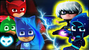 pj masks superhero catboy fight night ninja romeo luna