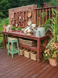 exterior design rustic table and garden bench with wooden