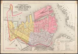 Map Of Boston by Outline U0026 Index Map Of Charlestown Wards 3 4 U0026 5 City Of Boston