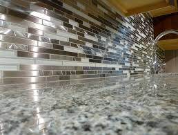 Popular Metal Tile Backsplash  The Homy Design - Glass and metal tile backsplash