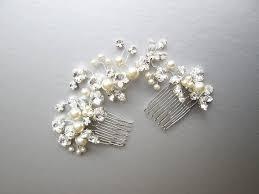 pearl hair comb swarovski and pearl hair vine bridal comb wedding comb
