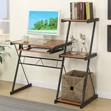 Computer Desks With Keyboard Tray Workstation Writing Computer Desk Keyboard Tray Wooden Top Ladder
