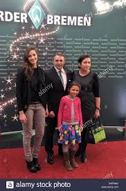 werder ceo klaus allofs 2 l his daughters leonie l and lotta