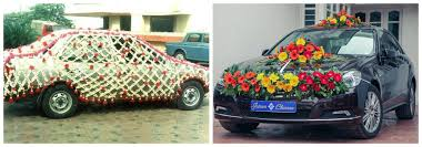 indian wedding car decoration various uses of flowers in indian weddings adworks pk