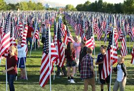 How To Properly Display The American Flag 9 11 Healing Field Flag Display Opens Friday In Sandy Deseret News