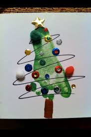 christmas arts u0026 crafts foot print tree made for daddy mrs