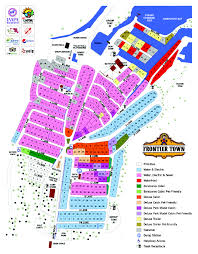 Md Map Maps Ocean City Md Camping Frontier Town Campground