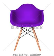 chaise violette couleur isolé plastique chaise violette blanc coupure