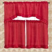 Red Kitchen Curtains And Valances by Kitchen Valances Walmart Com