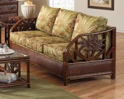 sofa rattan palm upholstered rattan wicker sofa