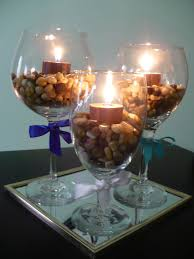 Large Martini Glass Centerpieces by Wine Glass Centerpieces Rooted In Love