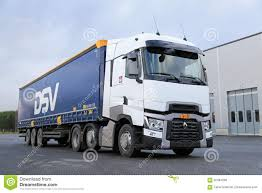 renault trucks white renault trucks t semi on asphalt yard editorial stock photo