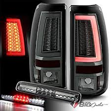 2005 gmc sierra tail lights amazon com for 2003 2006 chevy silverado gmc sierra smoked fiber