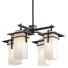 Kichler Lighting Hendrik by Indoor Outdoor Modern Mission 4 Light Chandelier From Asian Modern