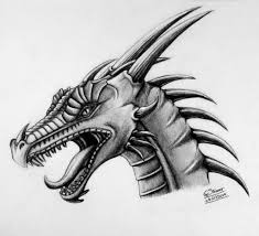 dragon head drawing by lethalchris on deviantart