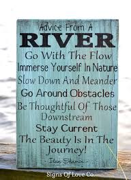 river home decor river sign advice from a river river home decor hand painted wood