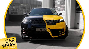 range rover rose gold black urban range rover velar wrapped gloss dark yellow youtube