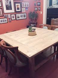 Dining Room Table Woodworking Plans how to build a diy square farmhouse table plans