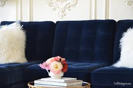 navy blue sectional couch kitchen this blue velvet sectional