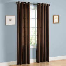 Amazon Window Curtains amazon com hlc me pair of chocolate brown faux silk grommet