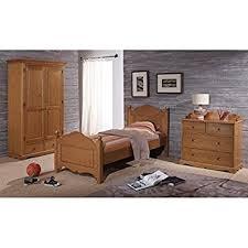 beaux meubles pas chers chambre enfant pin miel lit 90 armoire