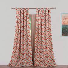 Tab Top Sheer Curtain Panels Greenland Home Fashions Terra Blossom Nature Floral Sheer Tab Top