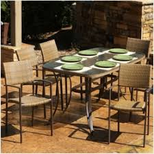 6 8 person outdoor wicker dining sets