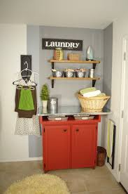 lovely laundry room decorating design ideas with stunning red