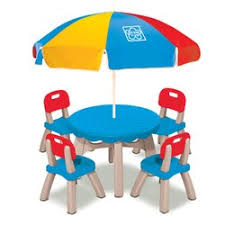 Patio Table And Chair Sets Grow U0027n Up Summertime Kids 6 Piece Patio Round Table And Chair Set