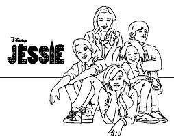 Disney Coloring Pages Jessie | jessie coloring pages disney channel coloring pages printable