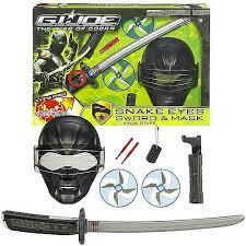 Halloween Costumes Snake Eyes Joe Movie Rise Cobra Playset Snake Eyes Sword Mask
