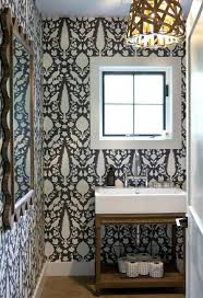 funky bathroom wallpaper ideas funky contrasting dark and light wallpaper in the powder room