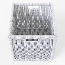 Rattan Baskets by Wicker Rattan Basket 07 White 3d Model Cgtrader