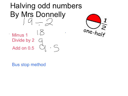 halving odd numbers youtube