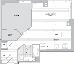 Bath Floor Plan by Floor Plans One Greenway Apartments The Bozzuto Group Bozzuto