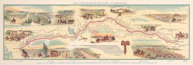 Map Route Maker by Vintage Map Of The Pony Express Route April 3 1860 U2013 October 24