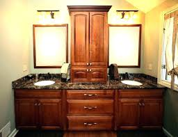 bathroom vanity and linen cabinet combo vanity with linen cabinet inch traditional bathroom vanity whitewash
