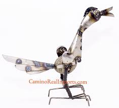 18 metal rock rocking roadrunner yard garden ornament rrl003