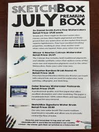 sketchbox july 2016 subscription box review coupon hello