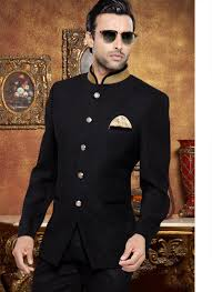 wedding dress indo sub black wedding wear indo western suit with jacquard material