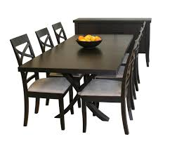 dining room large rectangle black wooden target dining table with