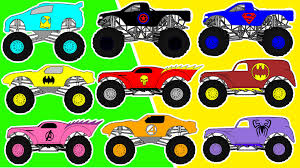 monster truck video for toddlers monster truck counting for kids count 1 to 10 street vehicles