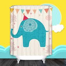 cartoon for kids elephant artwork unique shower curtain unique