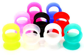 ultra thin silicone skins ear gauges choose color so scene