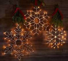 Pottery Barn Christmas Decorations 2015 by Lit Simple Outline Snowflakes Pottery Barn